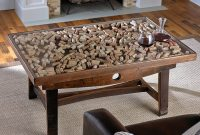 Collectors Display Top Coffee Table With Barrel Stave Legs intended for size 1500 X 1500