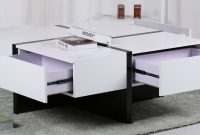Colleen White And Black Gloss Coffee Table With Storage throughout measurements 4656 X 2124