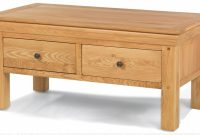 Constance Oak 4 Drawer Coffee Table Quercus Living for size 2500 X 1103