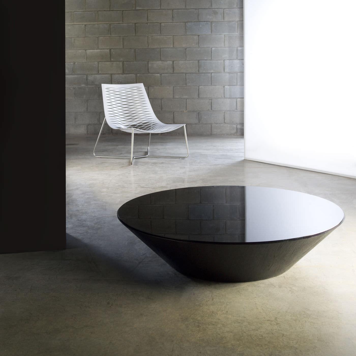 Contemporary Coffee Table Glass Round Dorset Modloft in size 1400 X 1400