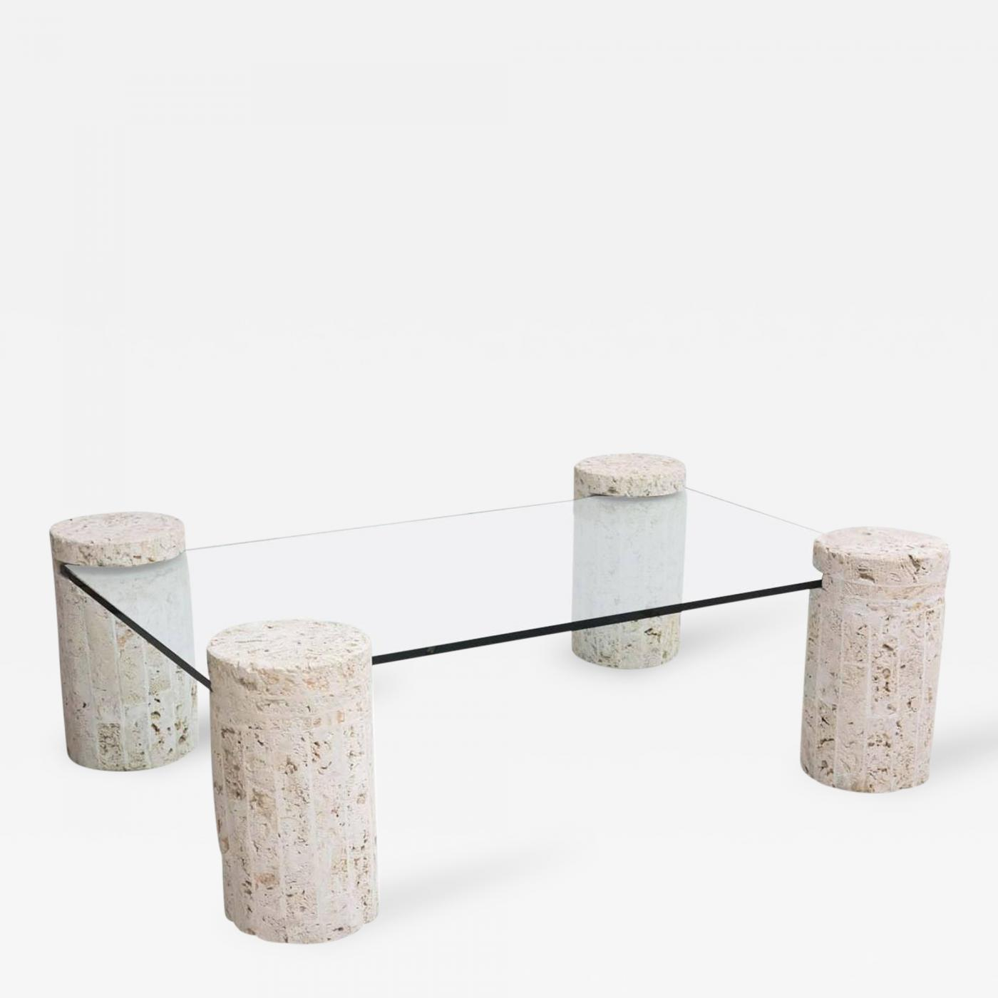 Coral Stone Coffee Table With Glass Top intended for dimensions 1400 X 1400