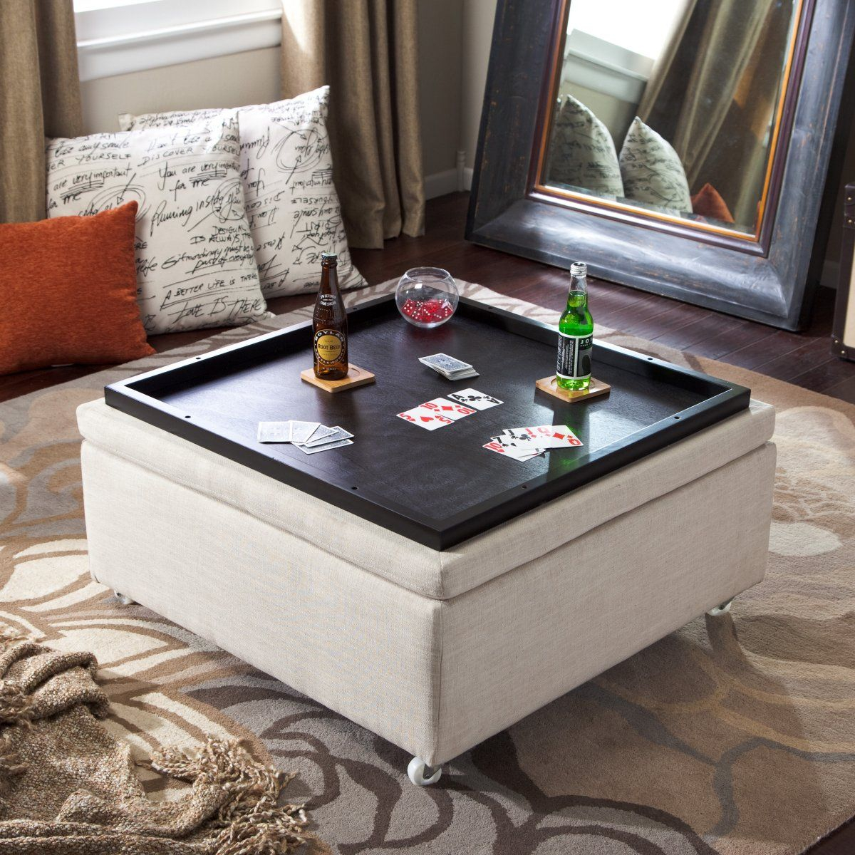 Corbett Linen Coffee Table Storage Ottoman Storage Ottomans At with size 1200 X 1200