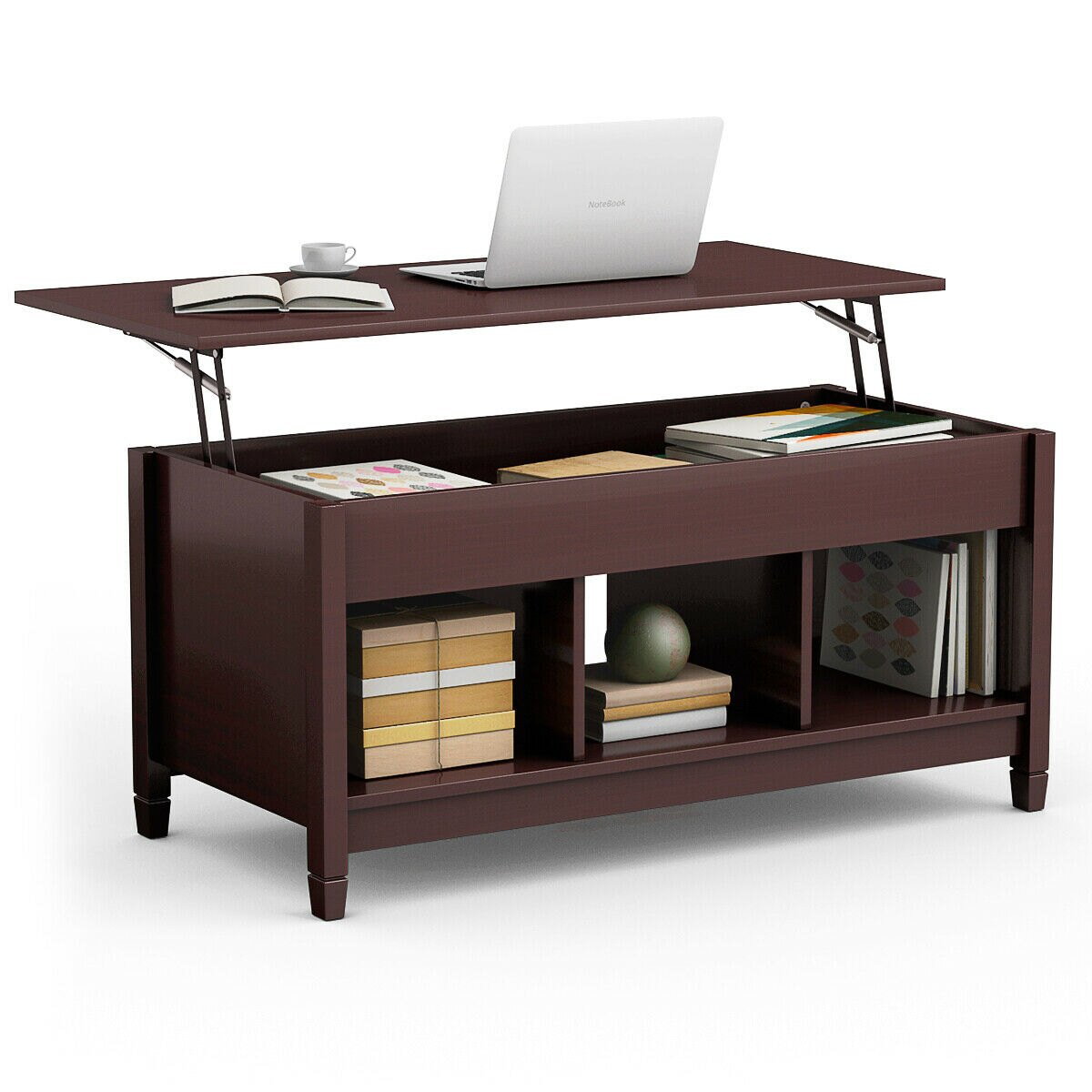 Costway Costway Lift Top Coffee Table W Hidden Compartment And for size 1200 X 1200