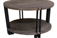 Crestview Bengal Manor Iron And Acacia Wood Round Coffee Table Wayfair inside sizing 4432 X 3620