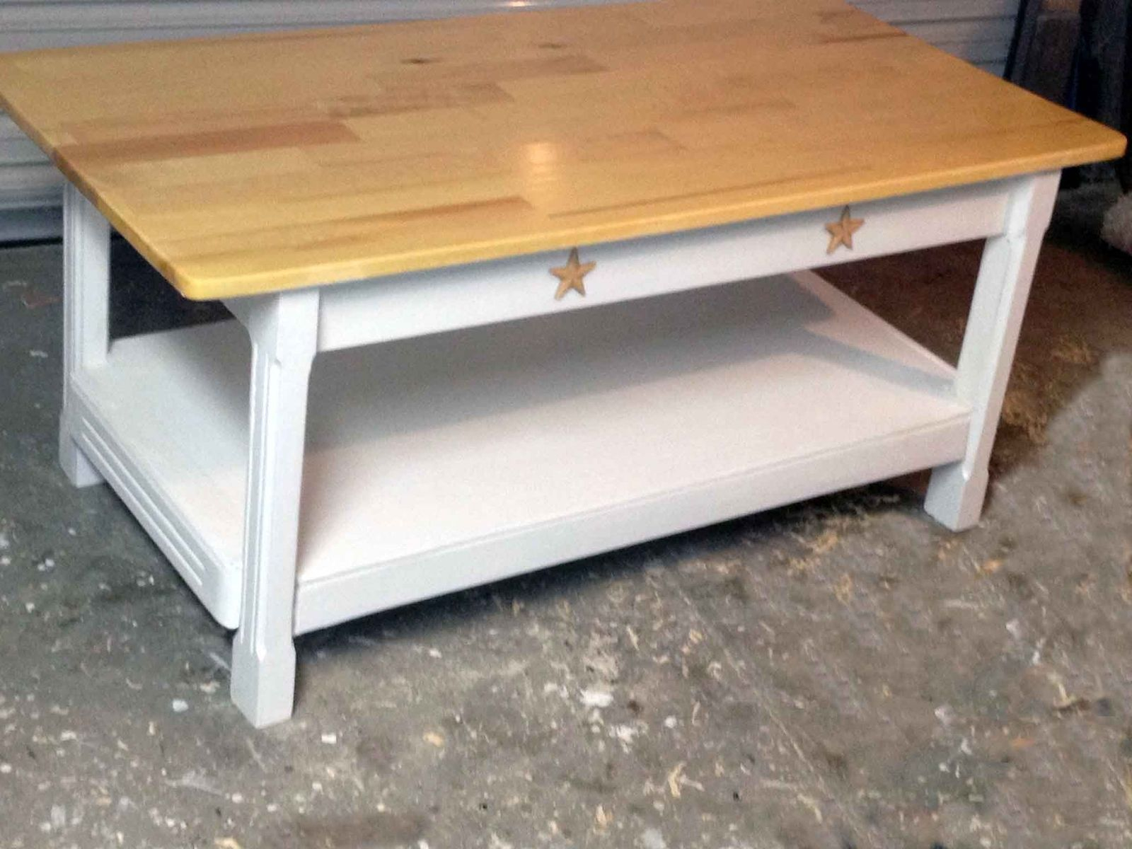 Custom Country Style Coffee Table All Solid Wood Furniture regarding dimensions 1600 X 1200