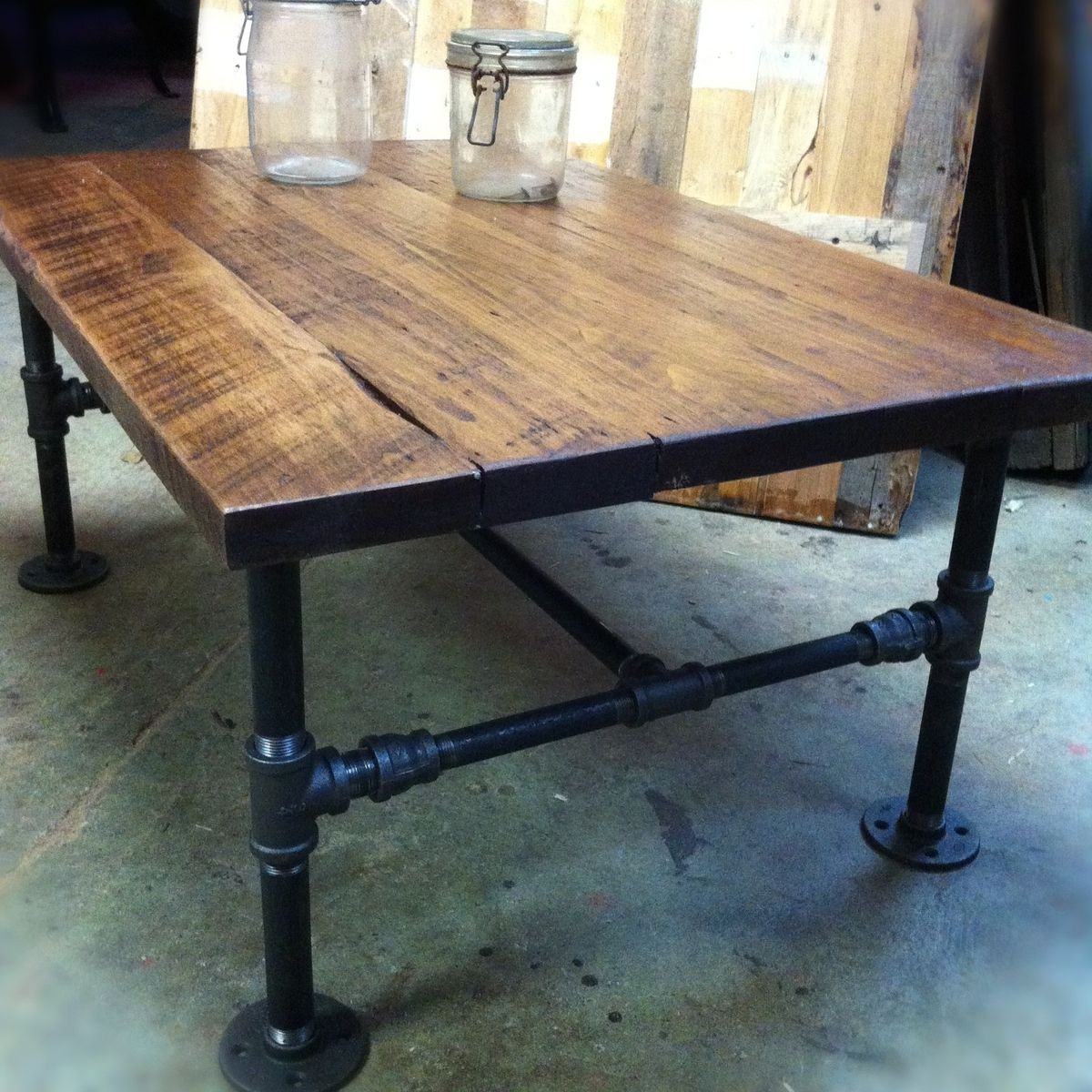 Custom Made Industrial Cast Iron Pipe Coffee Table Js Reclaimed with size 1200 X 1200