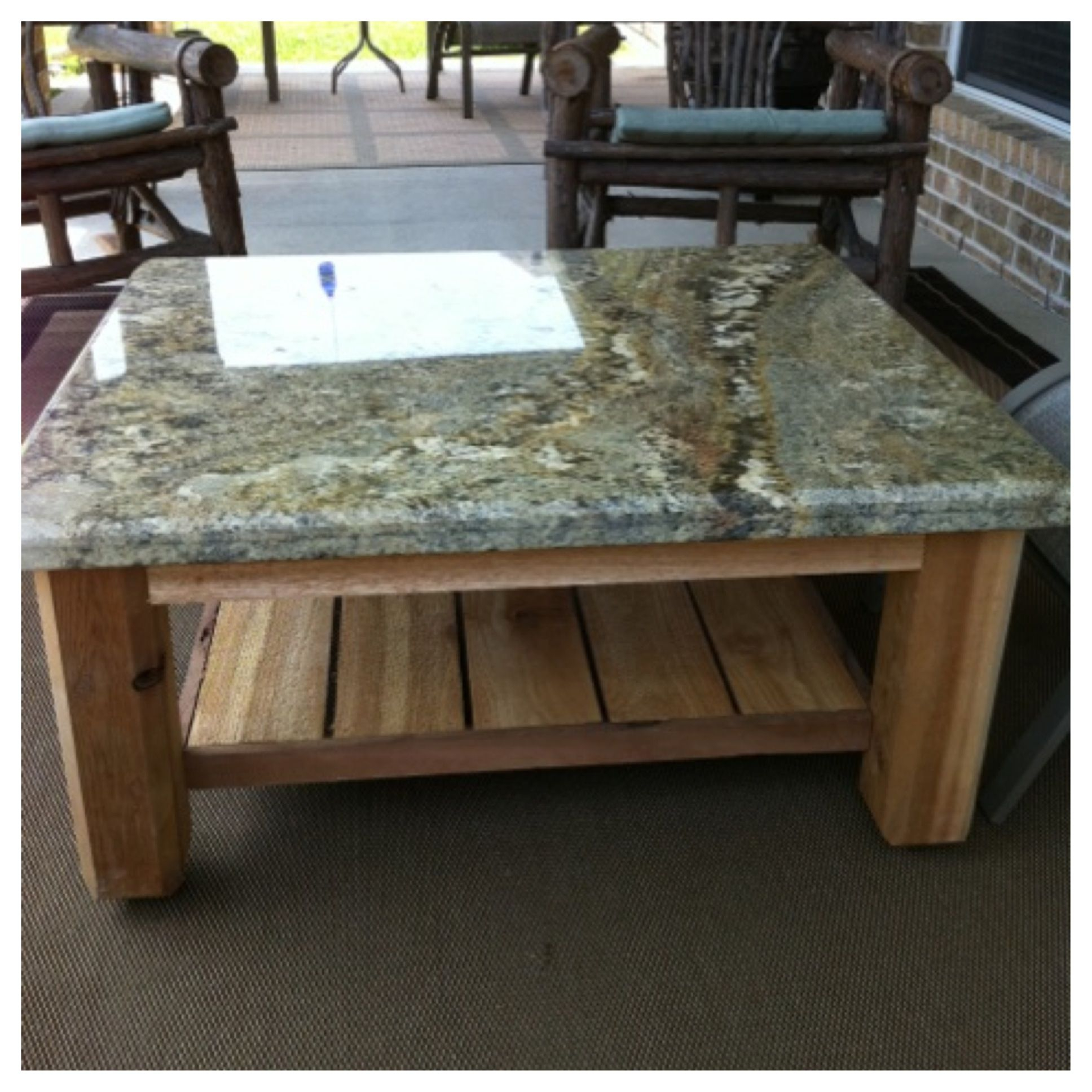 Custom Outdoor Patio Table With Granite Top This One Was Just with regard to dimensions 1936 X 1936