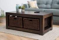 Dakota Dark Mango Large Coffee Table With Baskets Casa Bella regarding sizing 1498 X 1000