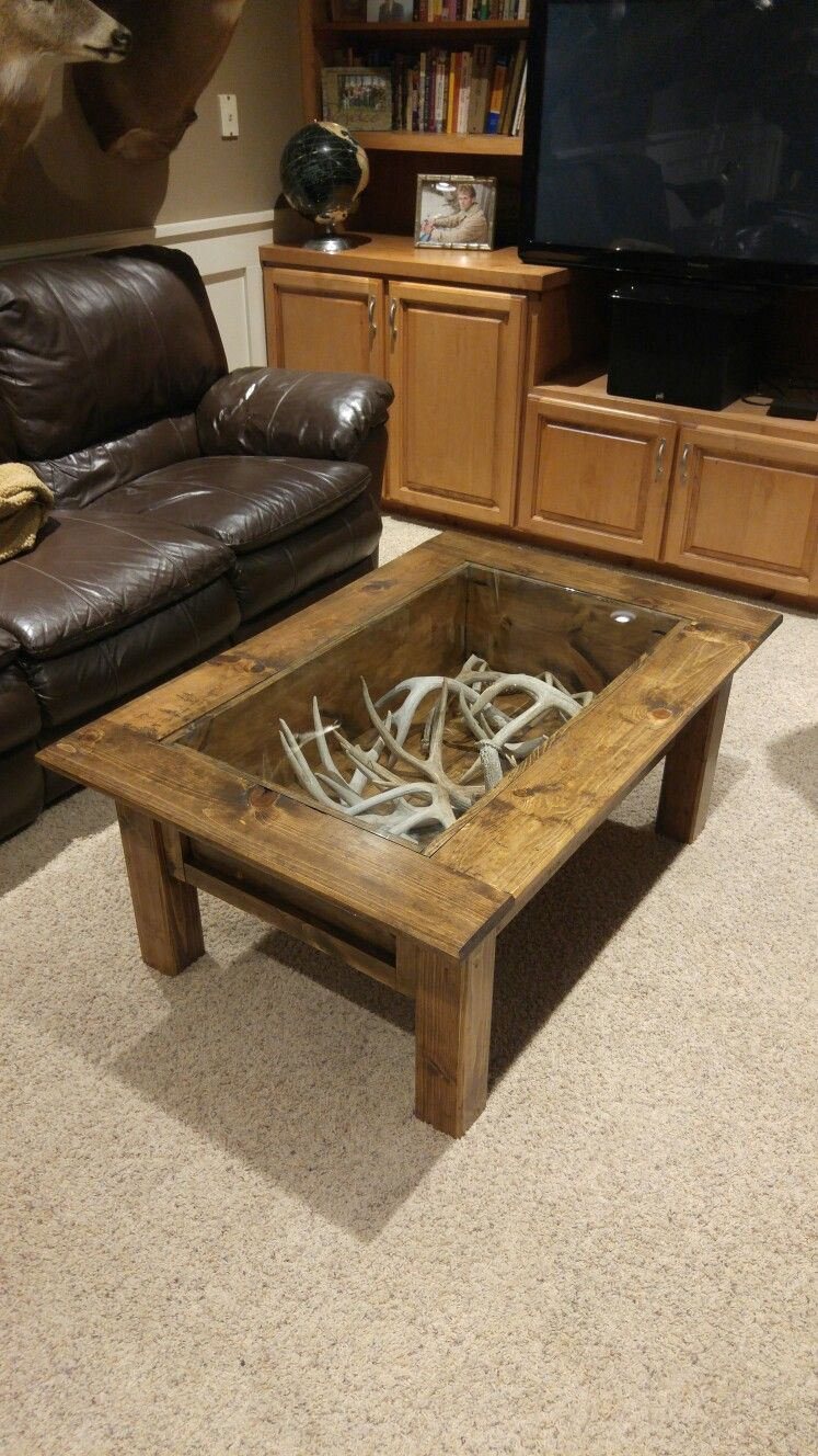 Deer Antler Sheds Coffee Table To Dos In 2019 Home Home Decor with regard to size 747 X 1328