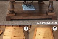 Diy Balustrade Coffee Table Get Four Ornate Wood Pillars And in sizing 746 X 1674