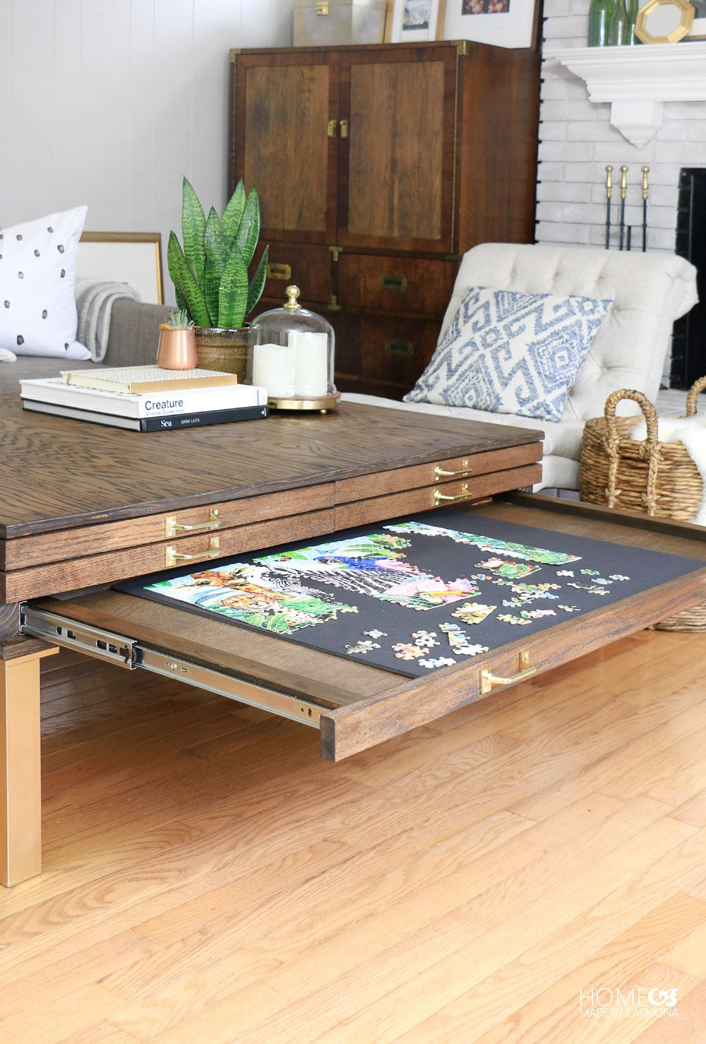 Diy Coffee Table With Pullouts Hometalk Funky Junk Present within measurements 1000 X 1478