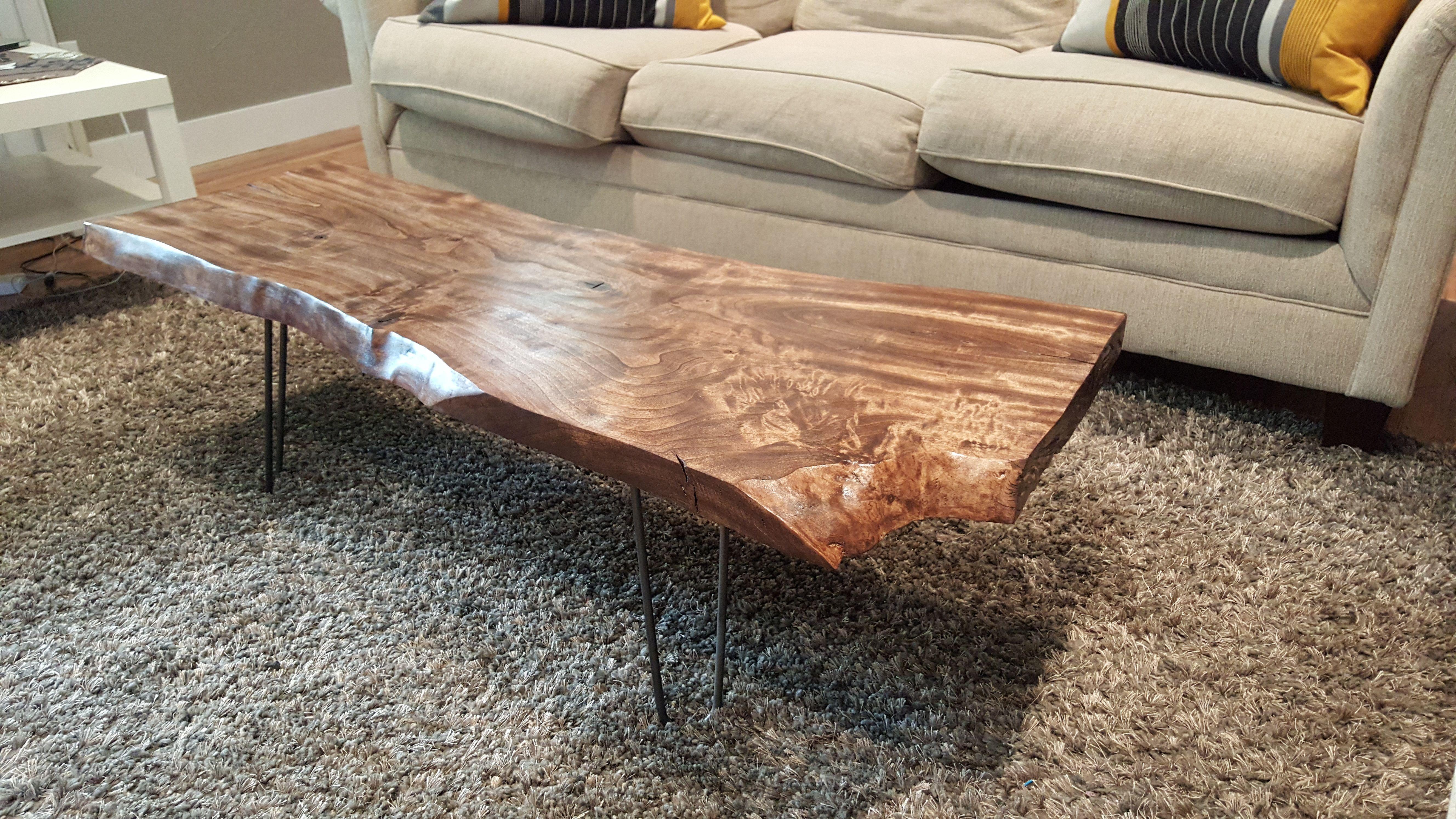 Diy Live Edge Wood Coffee Table Diy And Haus Decorations Rustic regarding dimensions 5312 X 2988