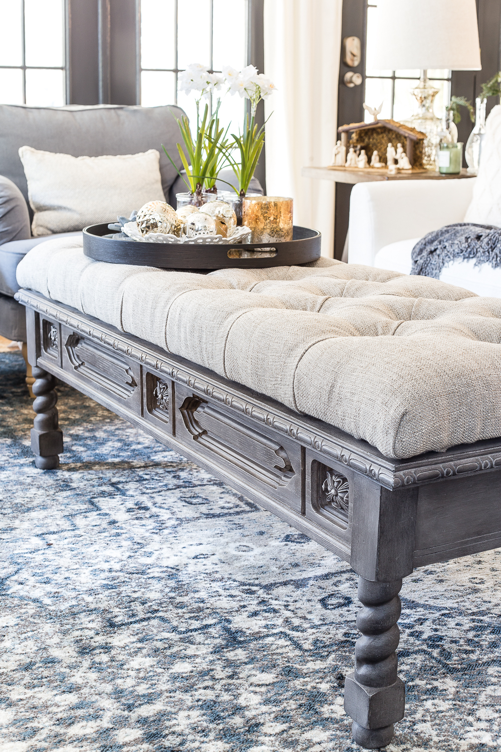 Diy Ottoman Bench From A Repurposed Coffee Table Blesser House in sizing 1000 X 1500
