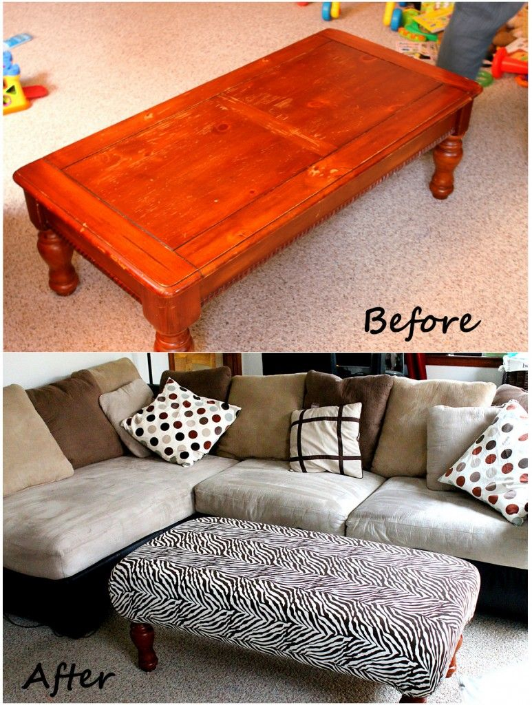 Diy Ottoman Might Be Great To Pad Our Coffee Table To Protect Out within proportions 773 X 1024