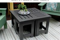 Diy Outdoor Coffee Table With 4 Hidden Side Tables New House Diy throughout proportions 750 X 1500