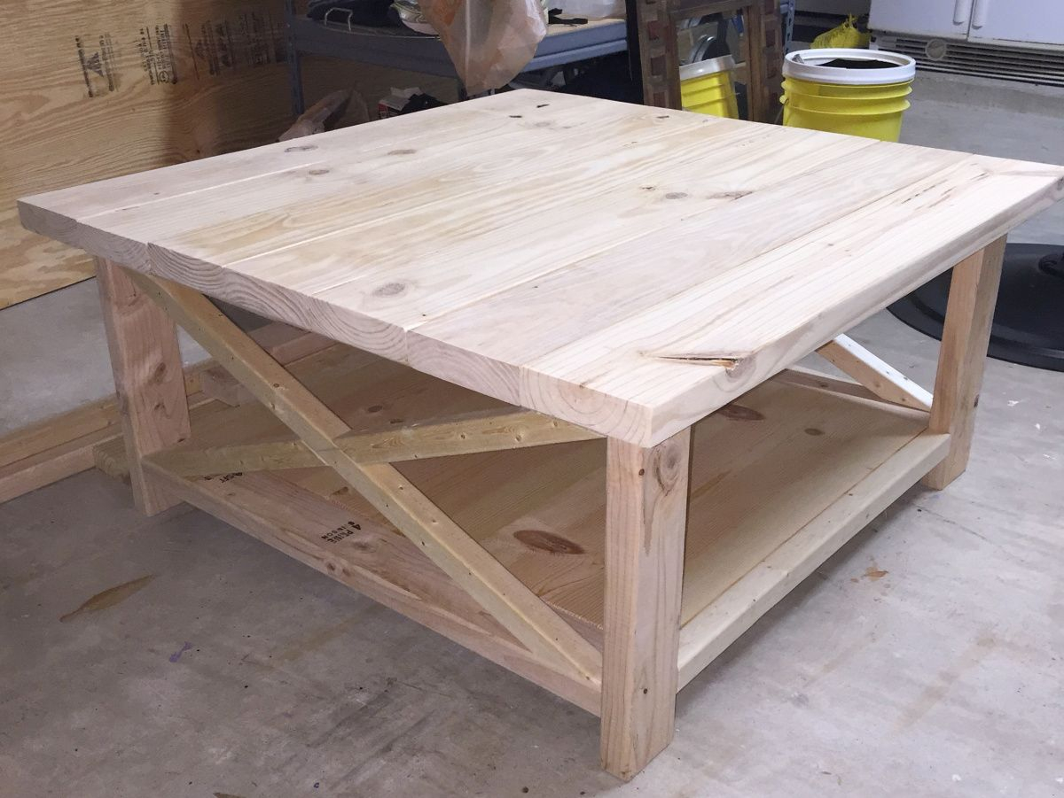 Diy Rustic Coffee Table Lynn In 2019 Decorating Coffee Tables regarding proportions 1200 X 901