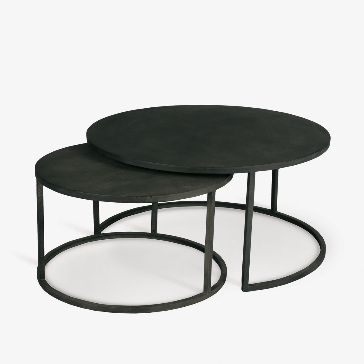 Double Stack Coffee Table Circular Nesting Iron Tables Th2studio with regard to proportions 1200 X 1200