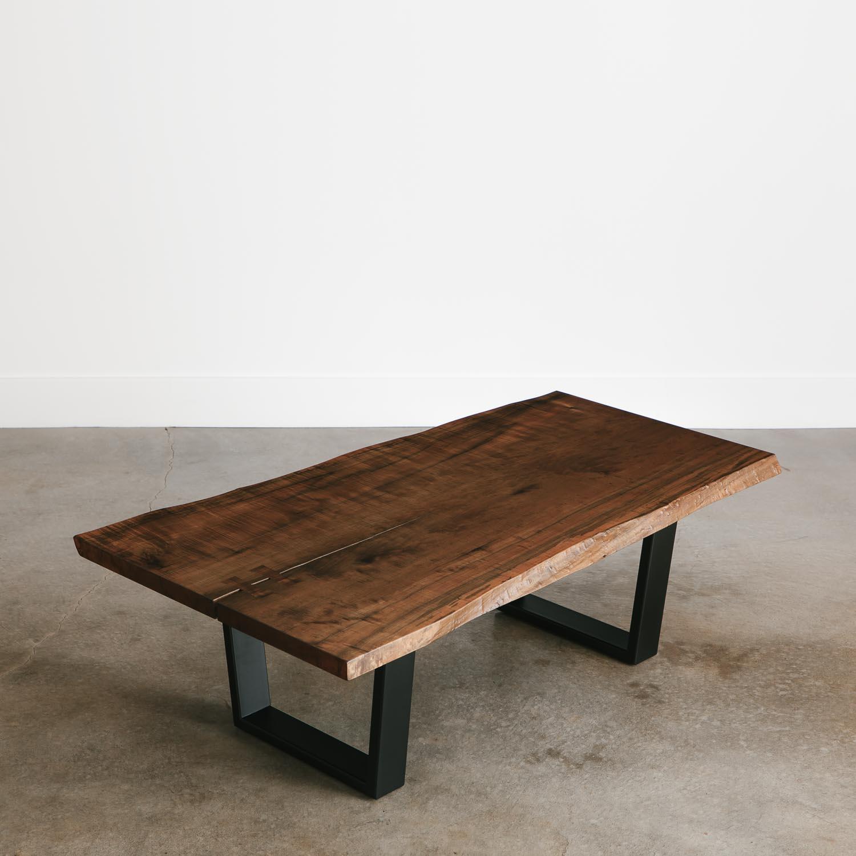 Ebonized Maple Coffee Table Elko Hardwoods Modern Live Edge throughout dimensions 1500 X 1500