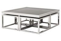 Eichholtz Brubeck Hollywood Silver Black Glass 5 Piece Square in dimensions 1000 X 1000