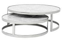 Eichholtz Orlando Modern Silver White Stone 2 Piece Round Coffee for proportions 1000 X 1000