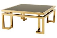 Eichholtz Palmer Modern Classic Square Smoked Glass Top Gold for sizing 1000 X 1000