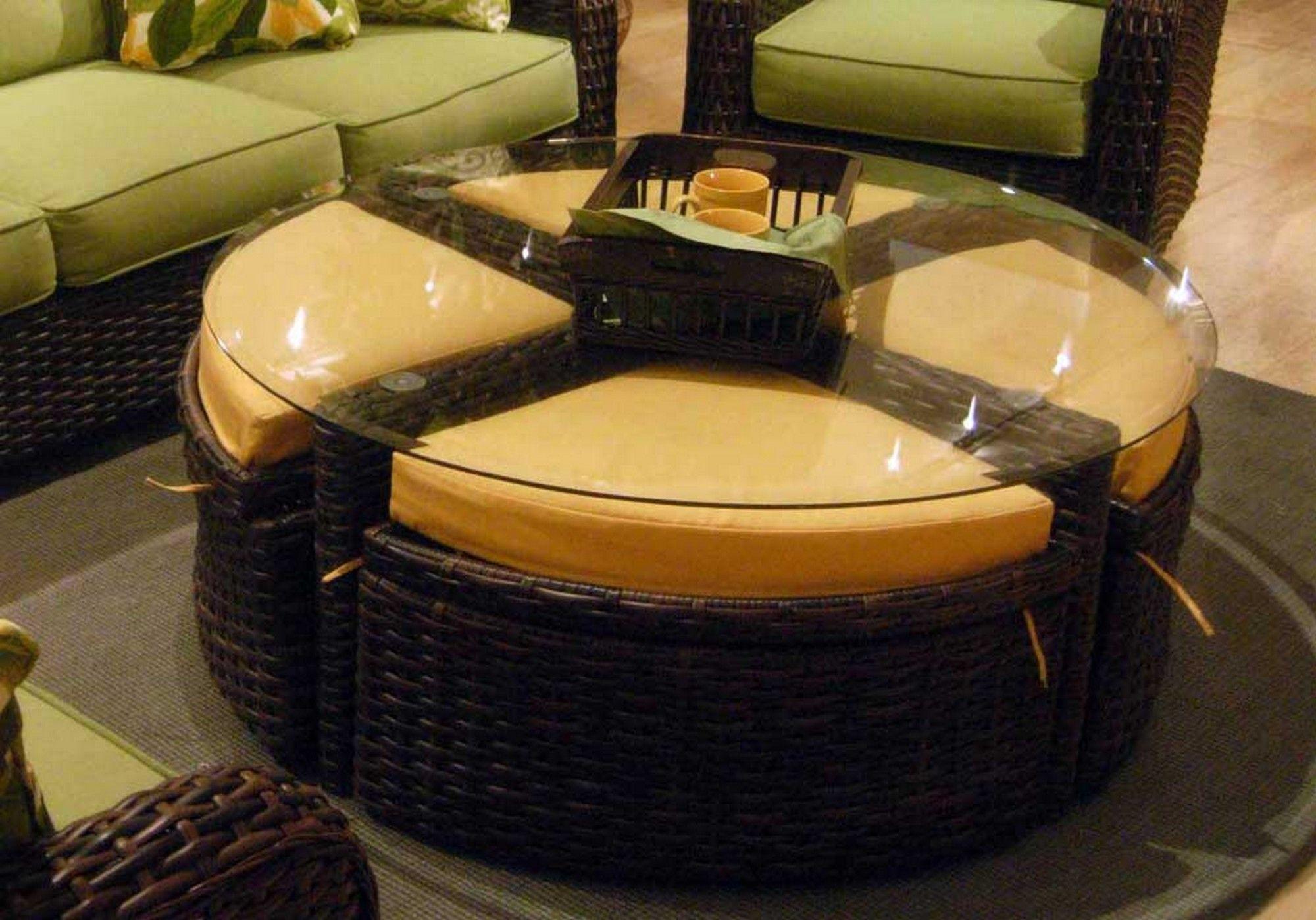 Elegant Leather Ottoman Round Table Coffee Ottoman Tufted Round regarding proportions 2000 X 1398