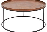 Emily Industrial Loft Black Metal Base Round Copper Coffee Table throughout sizing 1000 X 1000