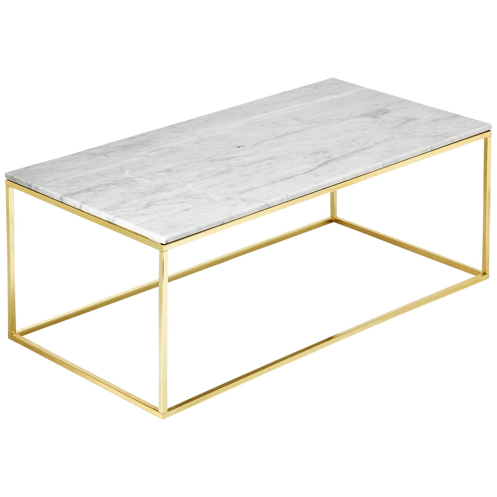 Estudio Furniture Como White Marble Coffee Table Reviews Temple regarding size 1730 X 1730