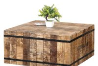 Expedition Rustic Mango Wood Iron Square Box Style Coffee Table with proportions 1200 X 1200