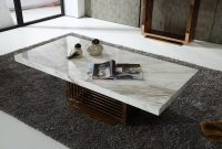 Fabrizio Modern White Marble Coffee Table Furniture Marble Top intended for size 1200 X 800