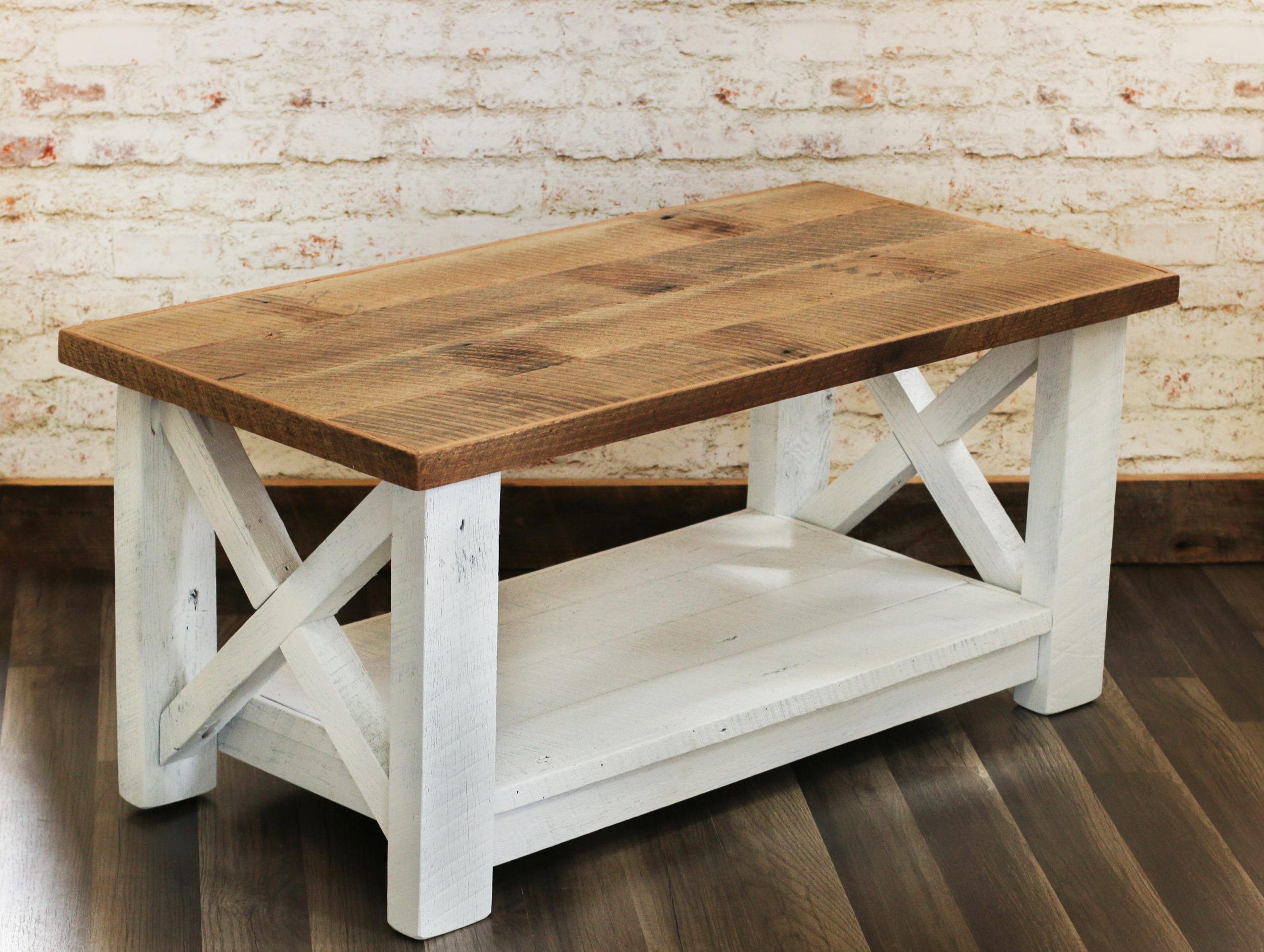 Farmhouse Coffee Table Made From Reclaimed Wood X Detail Etsy in proportions 2500 X 1883