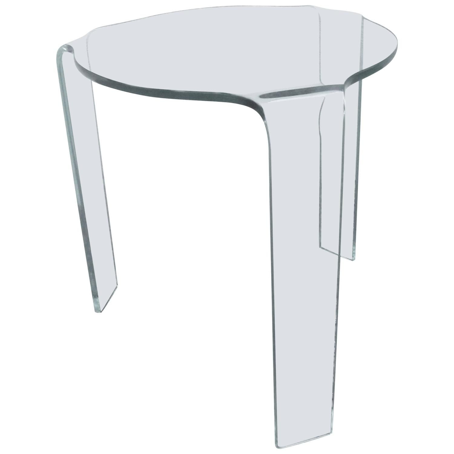Fiam Molded Glass Table In 2019 Stools Small Tables Glass within proportions 1500 X 1500