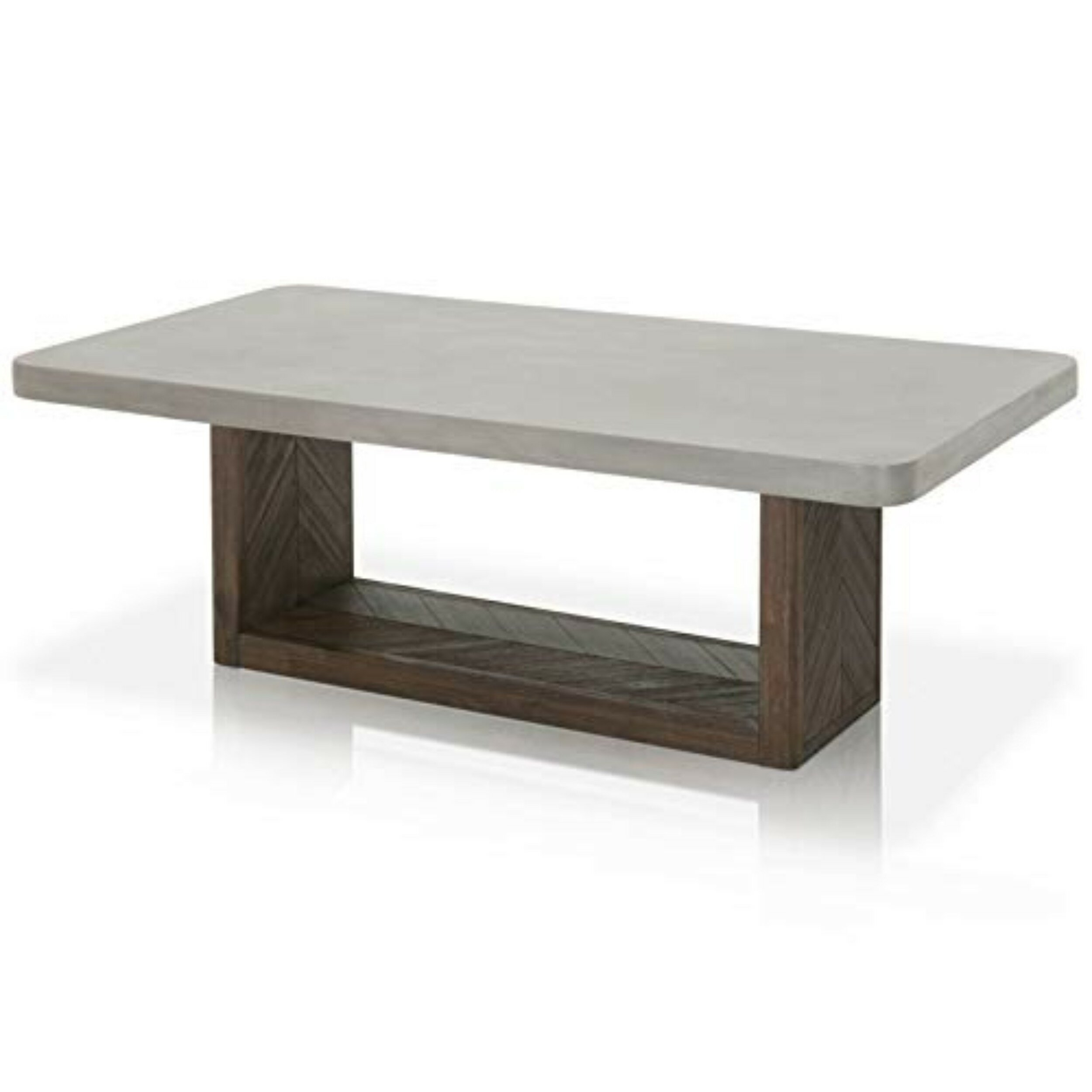 Foundry Select Bellows Concrete Top Coffee Table Wayfair with size 2500 X 2500