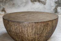 Foundry Select Bone Round Wood Coffee Table Reviews Wayfair regarding sizing 1785 X 1785