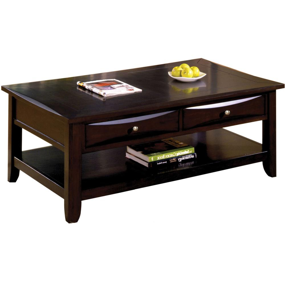 Furniture Of America Baldwin Espresso Coffee Table Cm4265dk C L in measurements 1000 X 1000