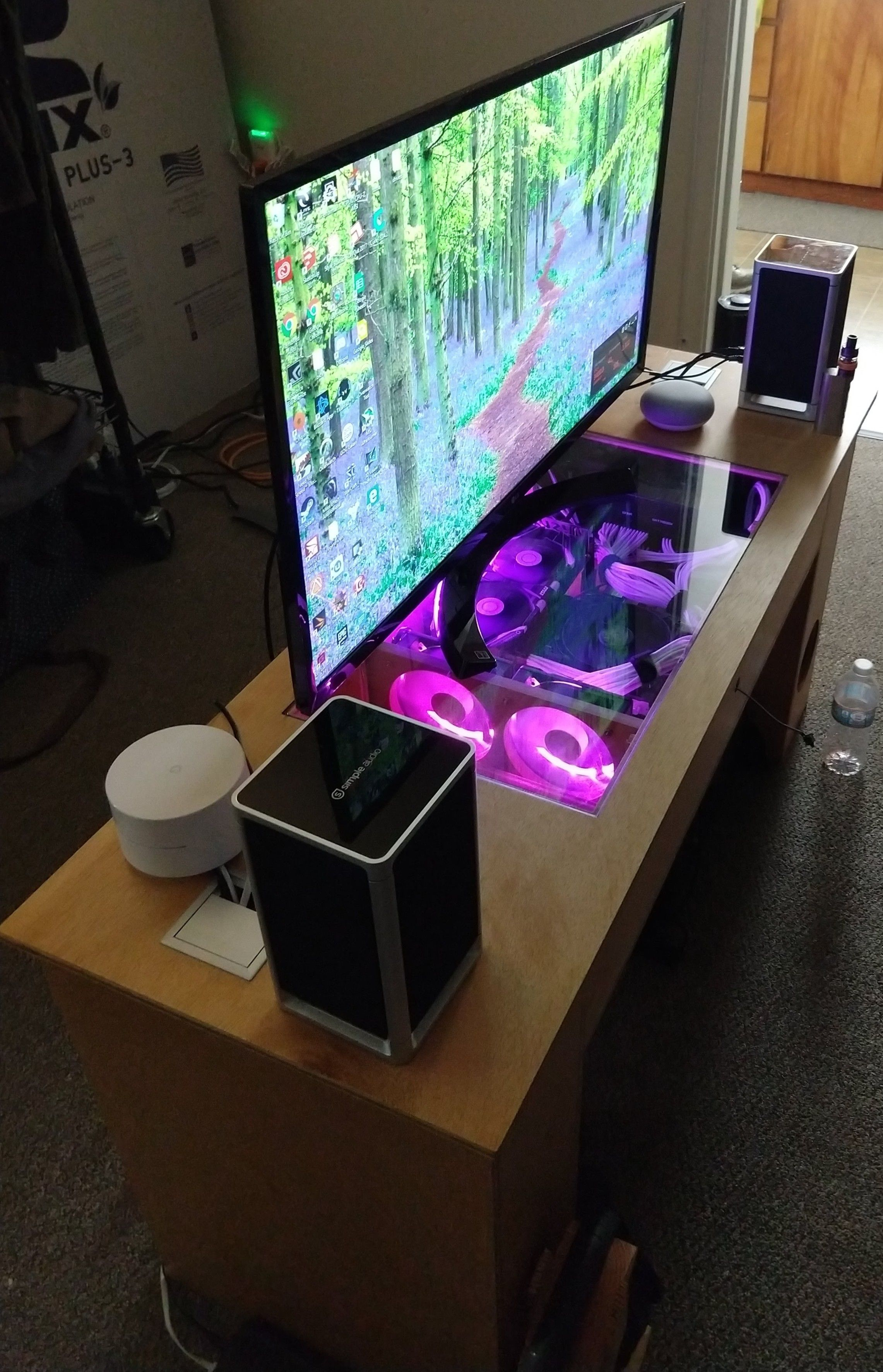 Gaming Pc Built Into Coffee Table Computer Case Or Furniture In with sizing 2282 X 3545