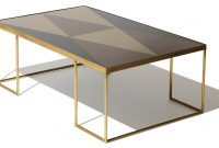 Geometric Bronze Coffee Table Rectangle with regard to proportions 1920 X 1038