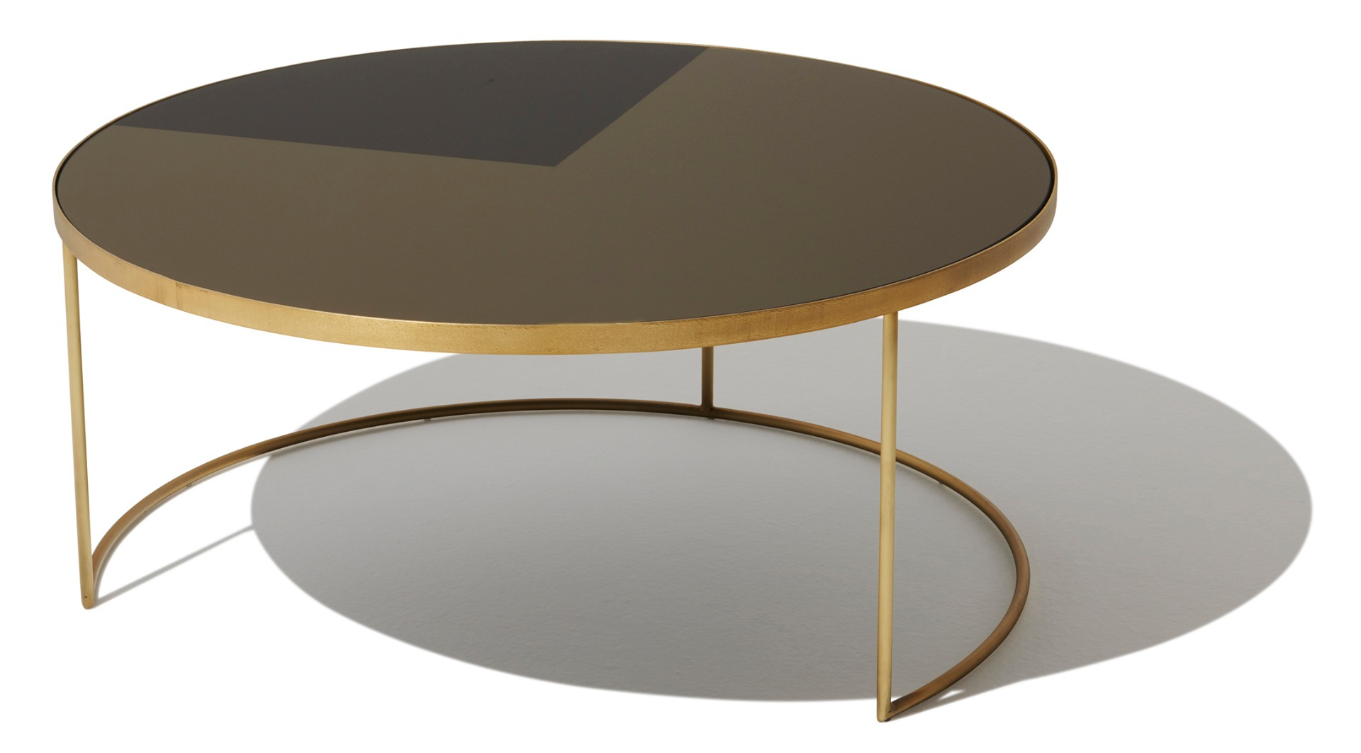 Geometric Bronze Coffee Table Round with regard to dimensions 1920 X 1062