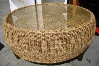 Glass Top Seagrass Coffee Table Coffee Tables within measurements 1024 X 768
