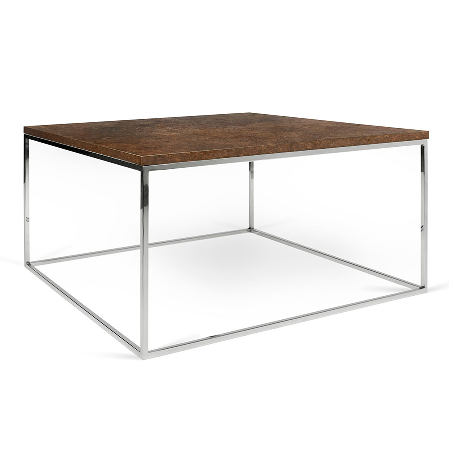 Gleam Rust Chrome Modern Coffee Table Temahome Eurway within measurements 900 X 900