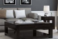 Glencoe Contemporary Style Solid Wood Large Square Coffee Table in sizing 1200 X 1200