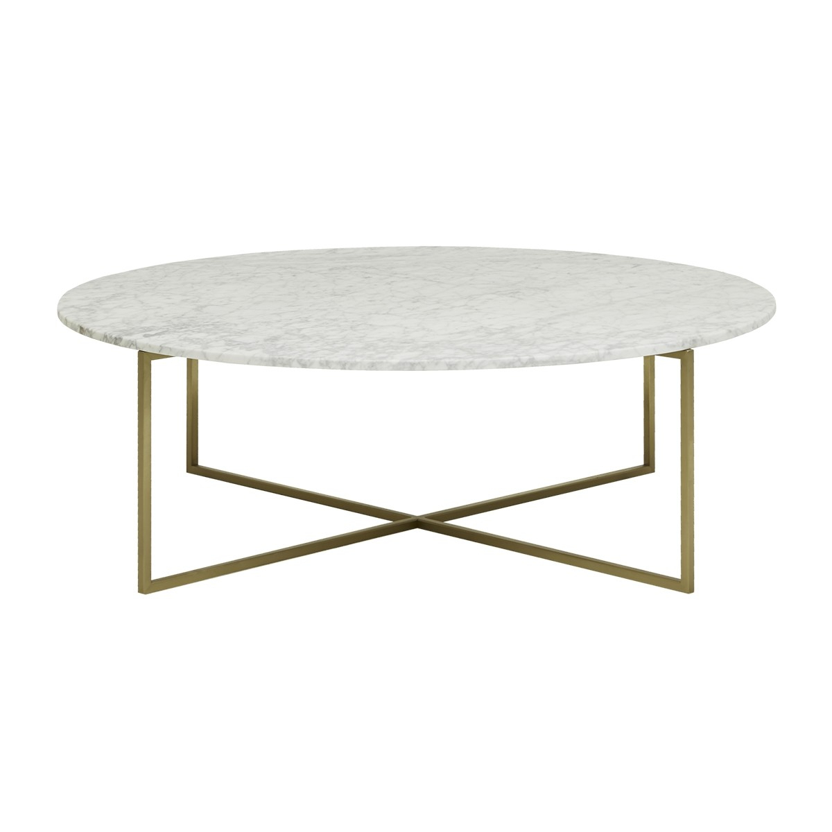 Globe West Elle Luxe Marble Round Coffee Table Modern Furniture inside proportions 1200 X 1200