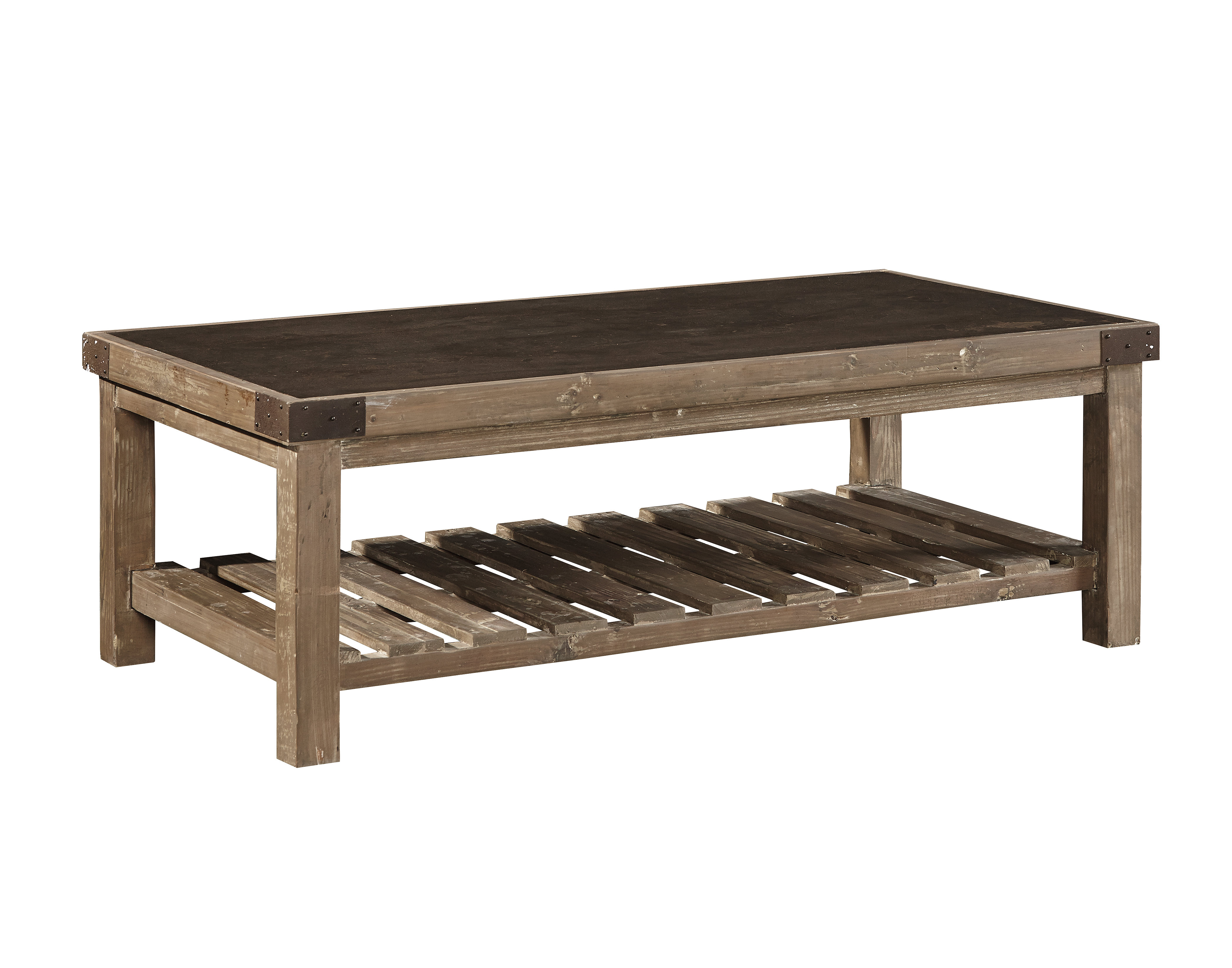 Gracie Oaks Warren Bluestone Top Coffee Table Wayfair for measurements 4200 X 3300