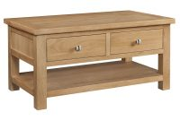 Grasmere Light Oak Coffee Table With Drawers Oak Furniture Uk for dimensions 1360 X 1100