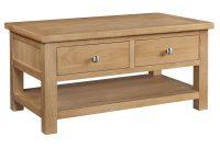 Grasmere Light Oak Coffee Table With Drawers Oak Furniture Uk inside measurements 1360 X 1100