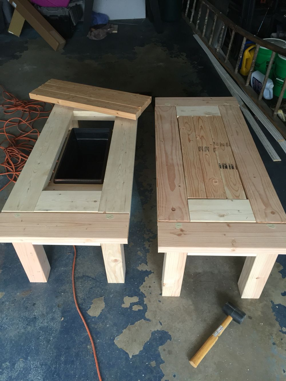 Great Patio Coffee Tables With Coolers Diy Patio Cooler intended for dimensions 1000 X 1334