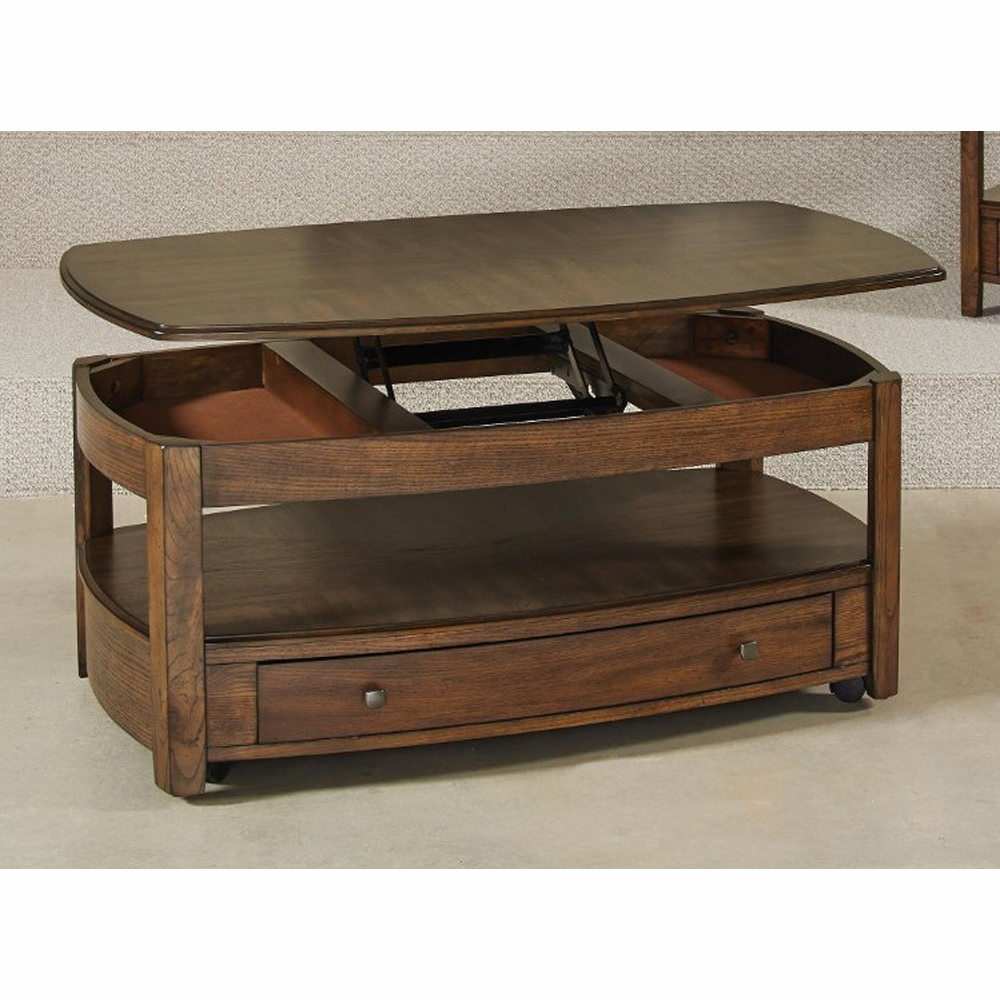 Hammary Primo Rectangular Lift Top Cocktail Table Kd 446 910 with measurements 1000 X 1000