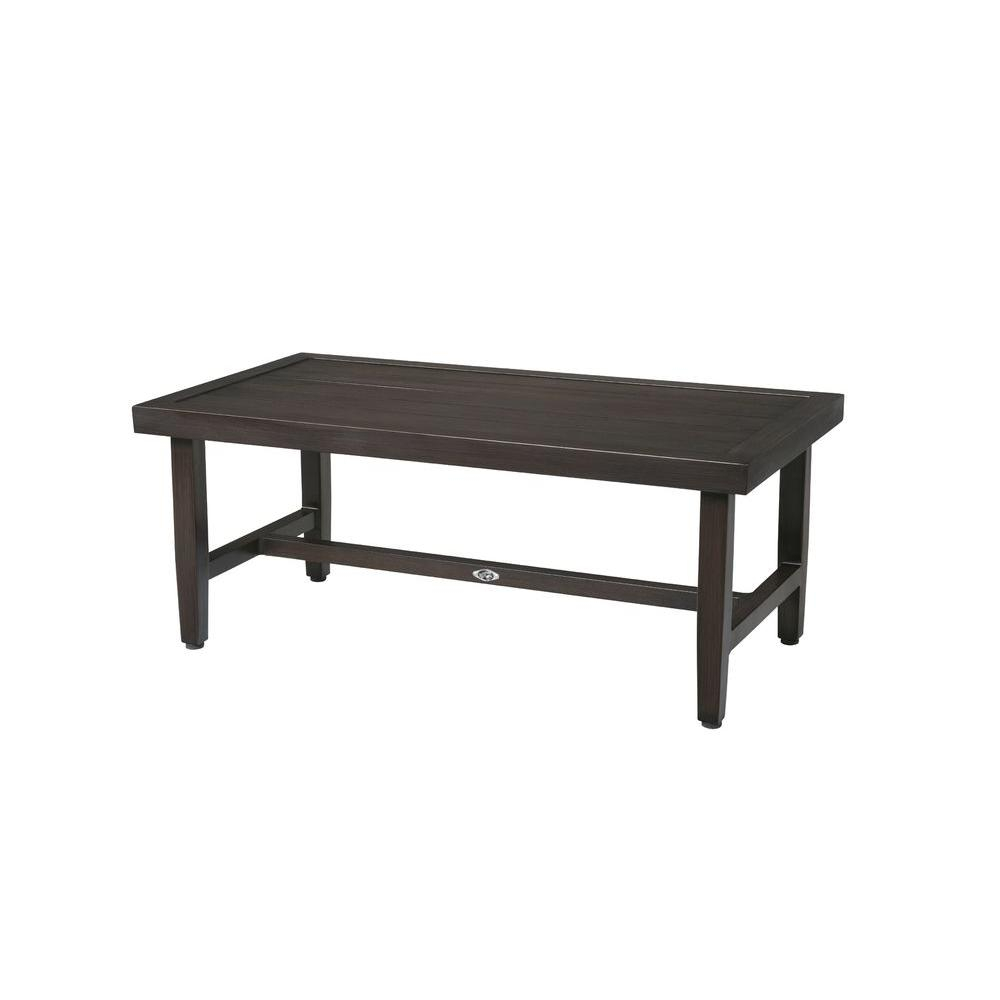 Hampton Bay Woodbury Metal Outdoor Patio Coffee Table Dy9127 Tc inside dimensions 1000 X 1000