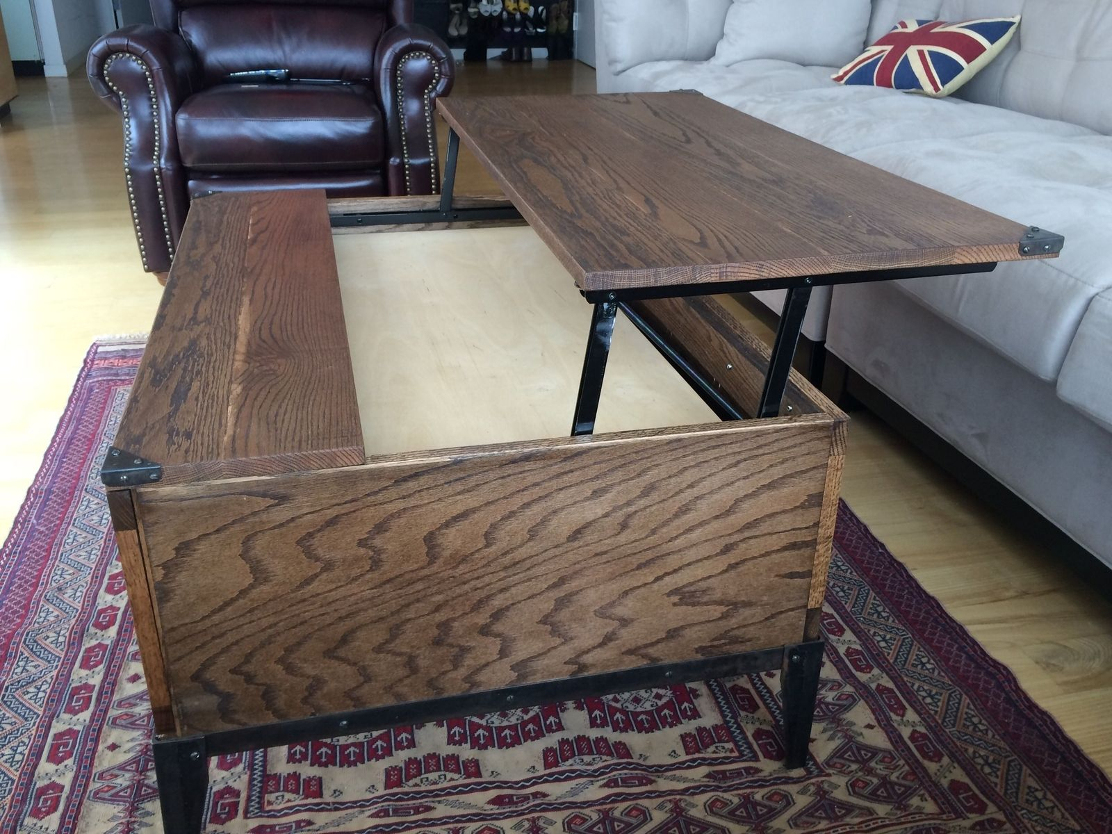 Hand Crafted Lift Top Coffee Table Mkarl Llc Custommade intended for measurements 1600 X 1200