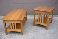 Handmade Quartersawn Oak Mission Style Coffee Table And End Table with regard to sizing 1600 X 1200